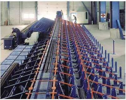 Lean Improvement Success at a Concrete Reinforcing Bar Manufacturer: Reinforcing steel cutting machine